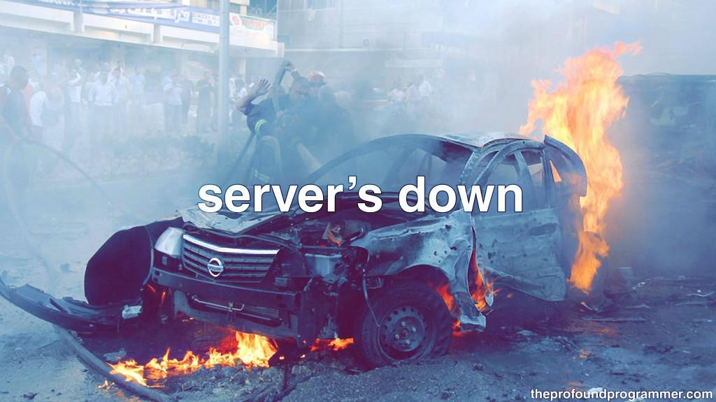 server down cyber monday