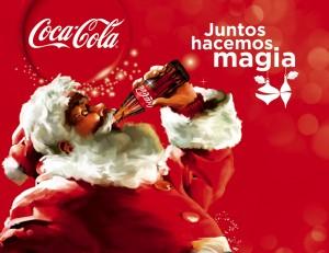 Un obeso disfrazado con un vestido caluroso (mientras aquí hace 38 grados) nos vende una gaseosa llena de azúcar. En Argentina, el 10% de la población sufre de Diabetes.